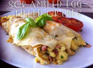 SCRAMBLED EGG FILLED CREPES